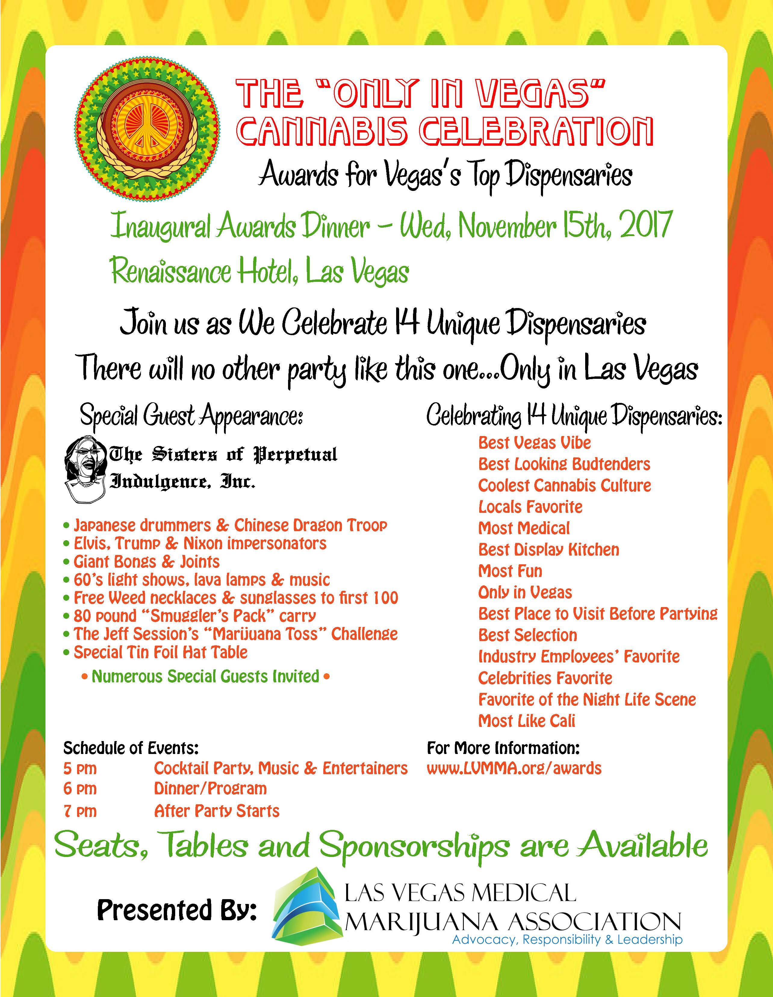 """The """"Only in Vegas"""" Cannabis Celebration Inaugural Awards Dinner ..."""
