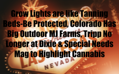 Grow Lights are like Tanning Beds-Be Protected, Colorado Has Big Outdoor MJ Farms, Tripp No Longer at Dixie & Special Needs Mag to Highlight Cannabis