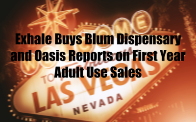 Exhale Buys Blum Dispensary and Oasis Reports on First Year Adult Use Sales