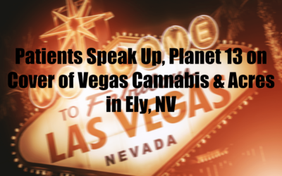 Patients Speak Up, Planet 13 on Cover of Vegas Cannabis & Acres in Ely, NV